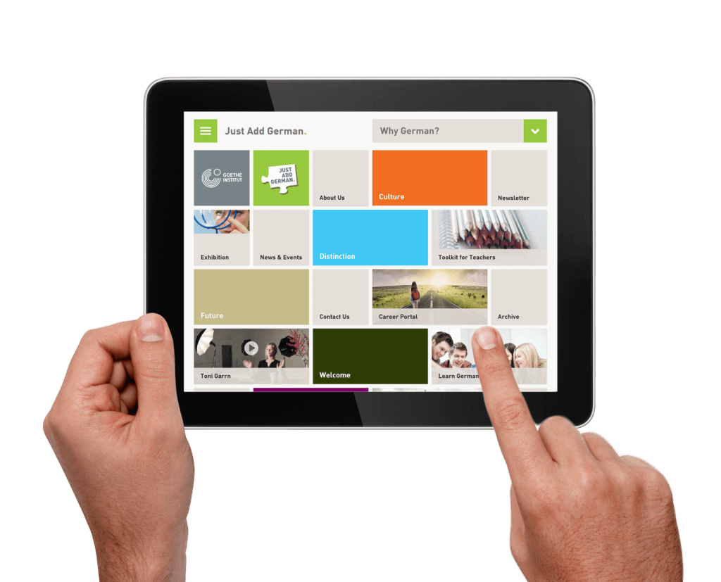 Goethe Institut auf dem iPad