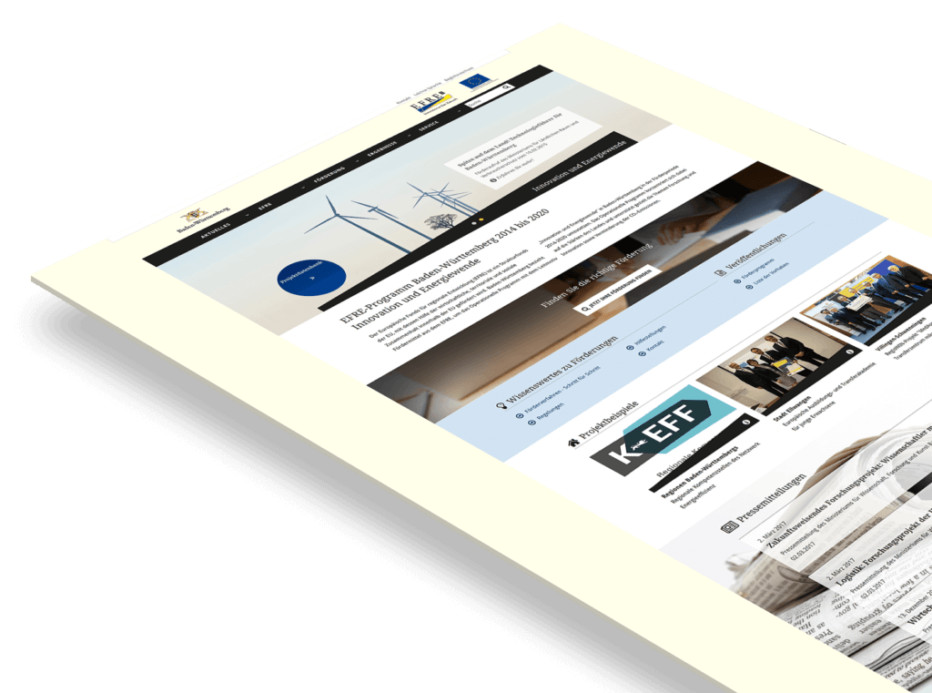 Konzeption und Webdesign für Ministerien