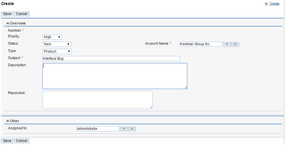 SugarCRM Kundensupport Ticket-System