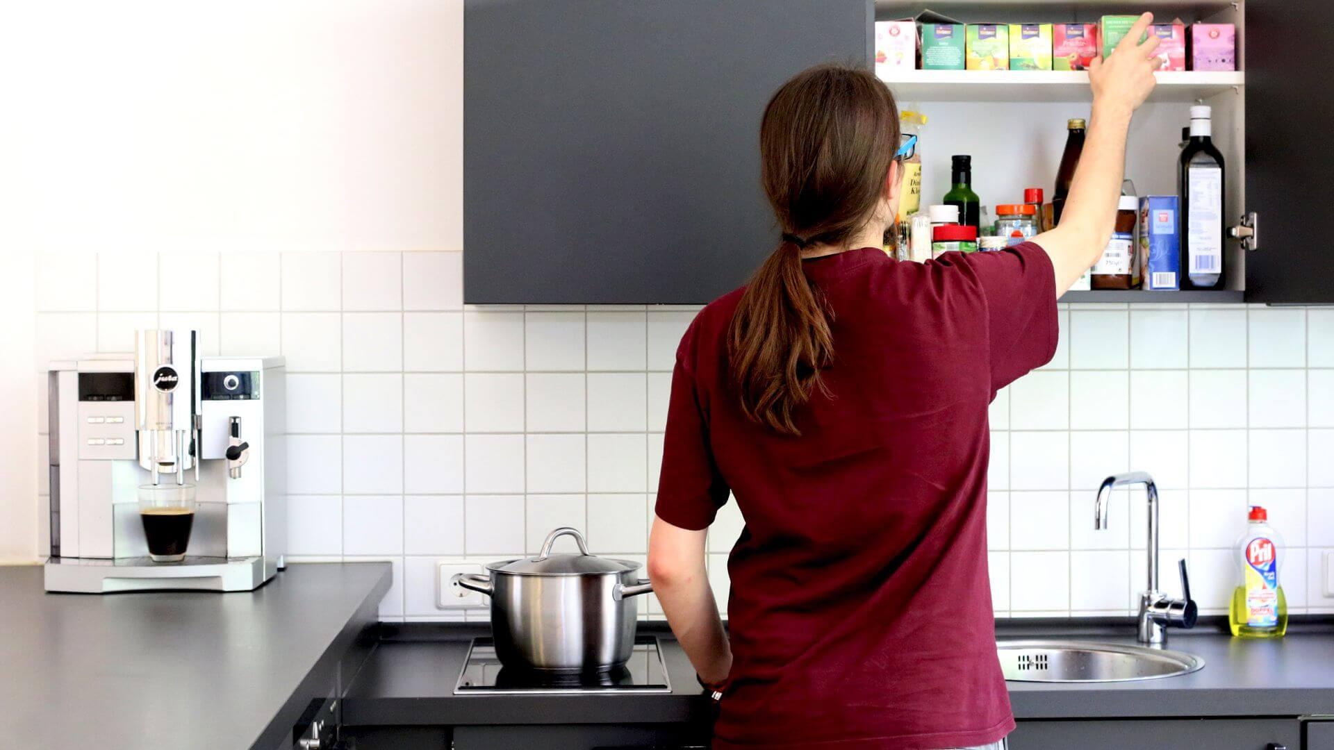 Gemütliche Küche zum Kochen und verweilen
