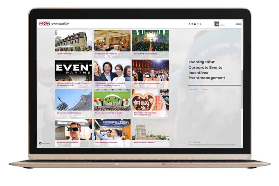 Corporate Events über eine Website organisieren