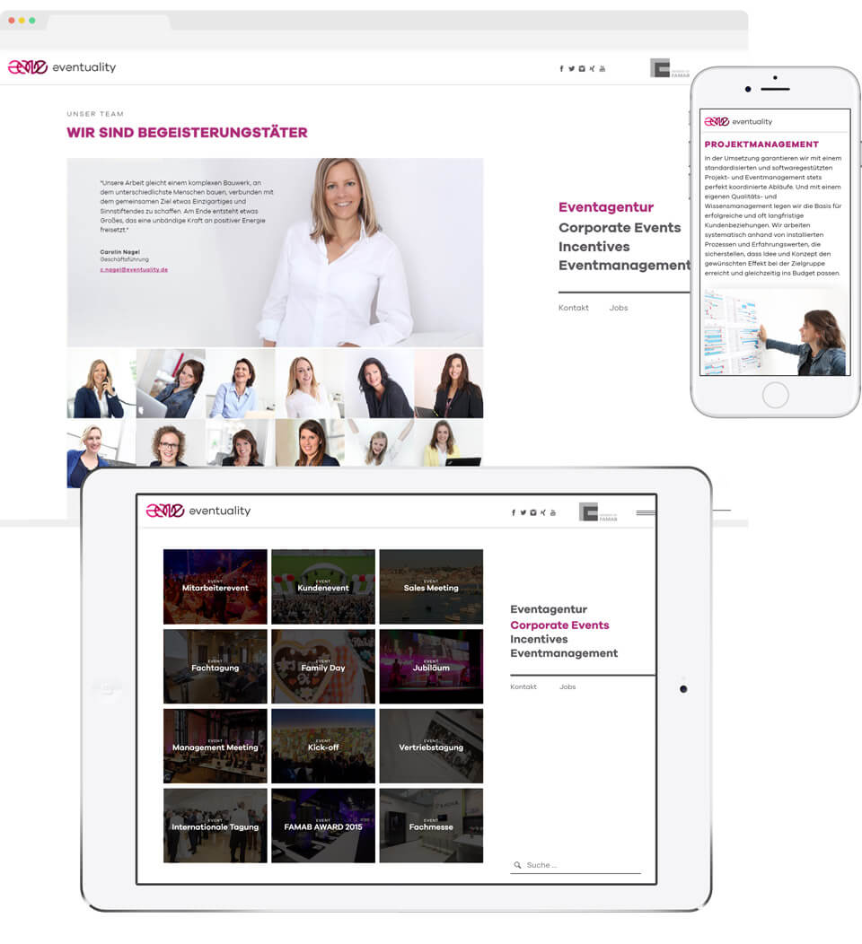 Event Agentur Website