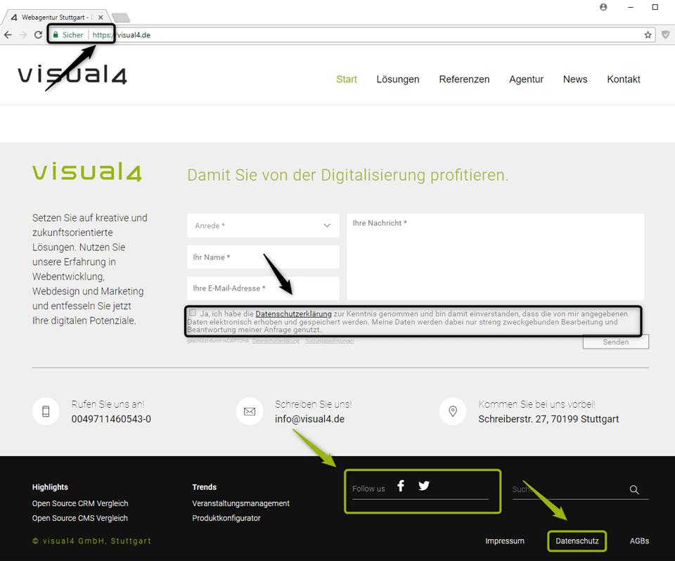 DSGVO: Anpassungen für die Website