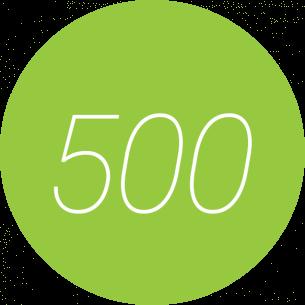 500 Seitenbesucher am Tag