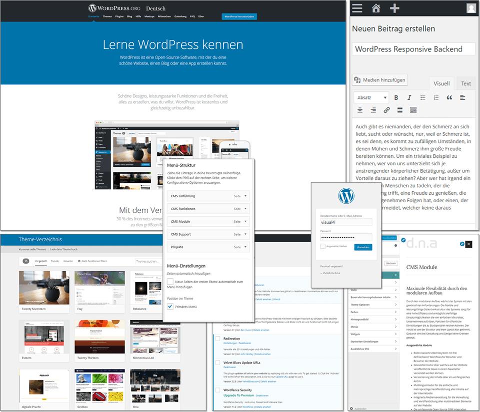 Die WordPress Oberfläche im Detail