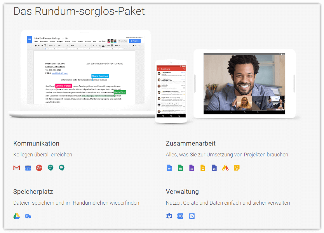 Kollaborationsplattform G Suite
