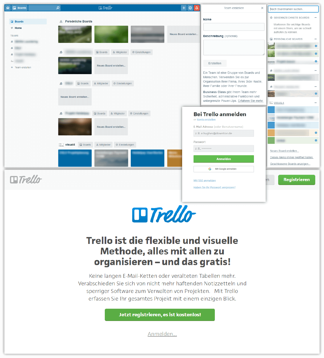 Kollaborationsplattform Trello