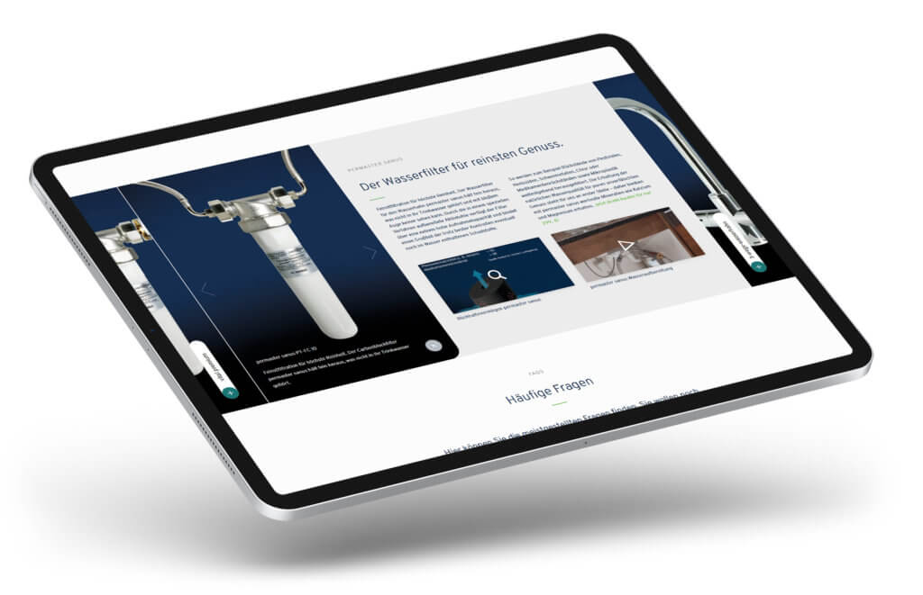 Produkte bewerben im Webshop mit Akkordeon