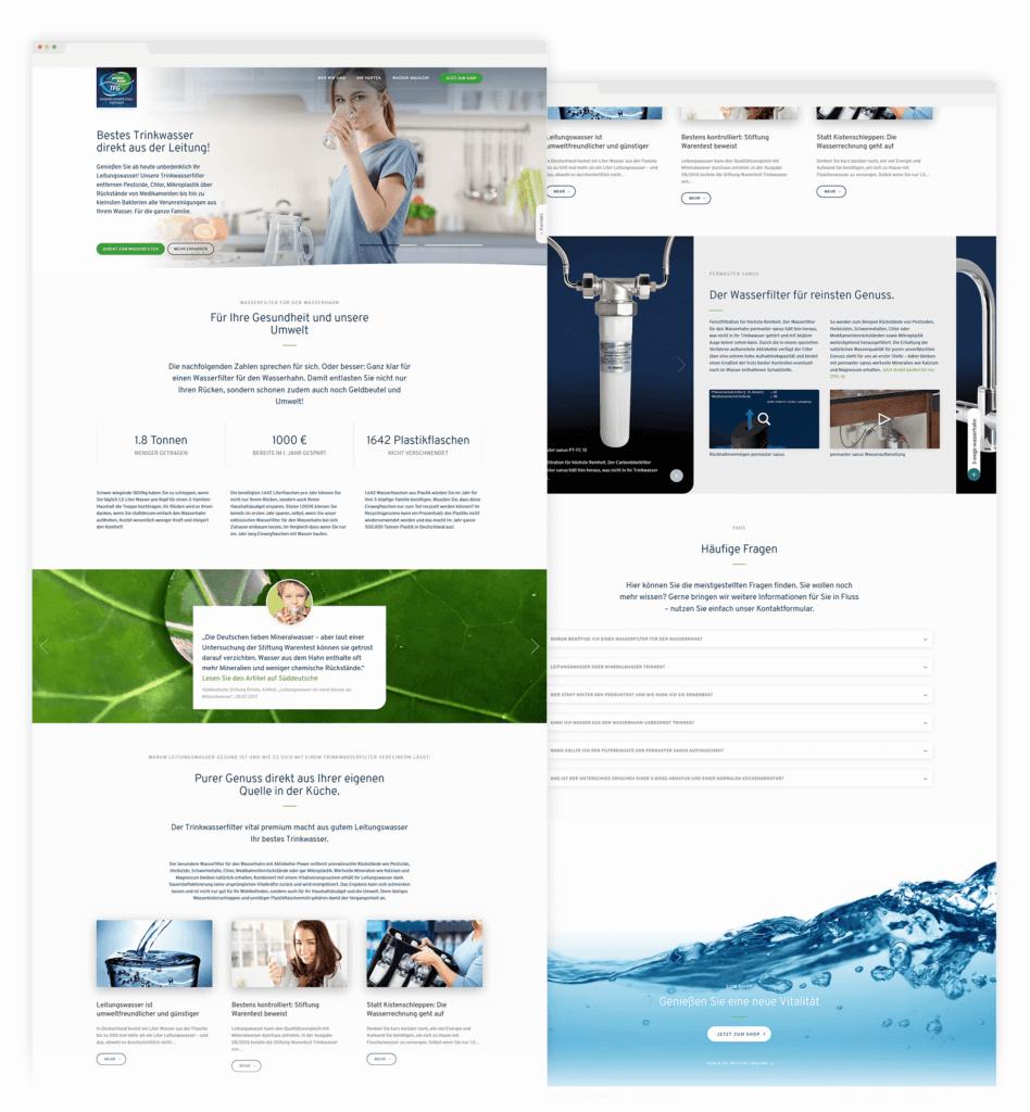 Webshop Landingpage