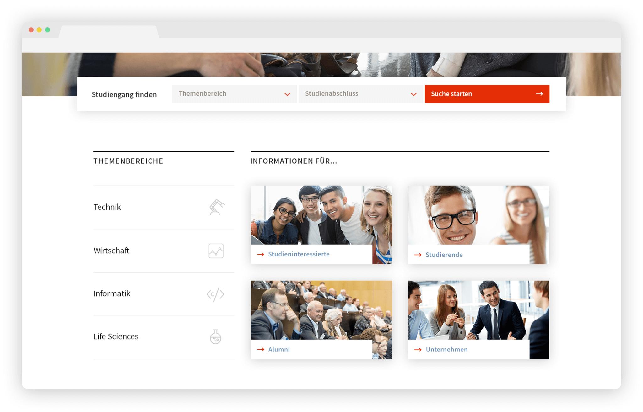 Website-Relaunch Hochschulen: Verschiedene Zugänge schaffen