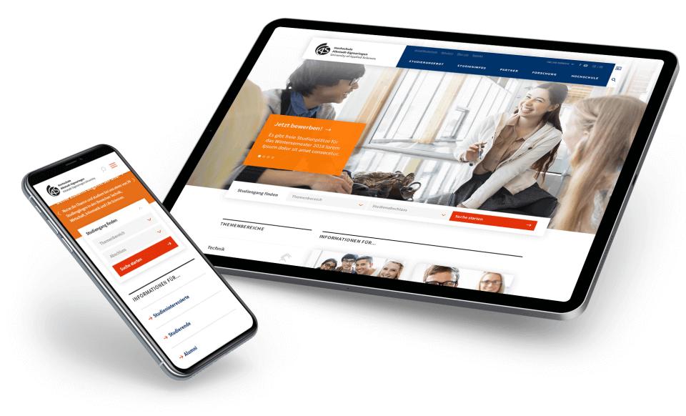 Responsive Webdesign der Hochschule Albstadt-Sigmaringen