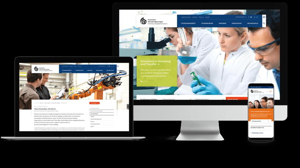 Webdesign Hochschule Albstadt-Sigmaringen